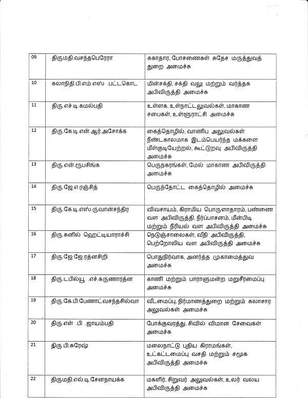 Secretaries were appointedTamil Tamil 2